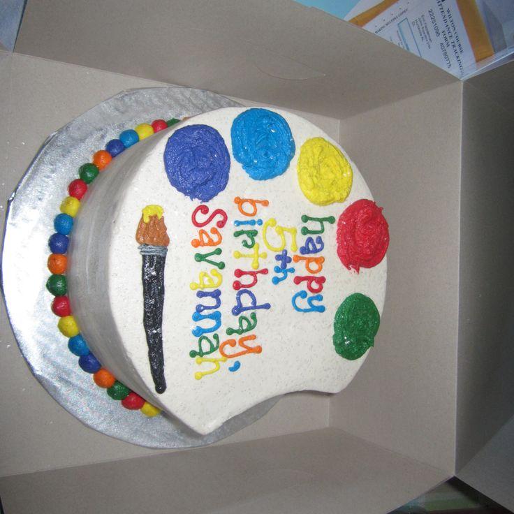 Art Party Cake Designs : Art Cake Party Ideas Pinterest