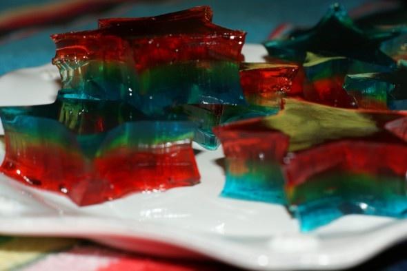 Double Rainbow Cake Jelly Shot Recipe — Dishmaps