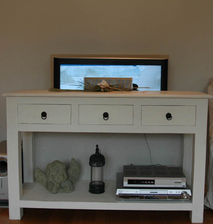 Duc2 Small Lcd Tv Lift Behind Table Kitchen Pinterest