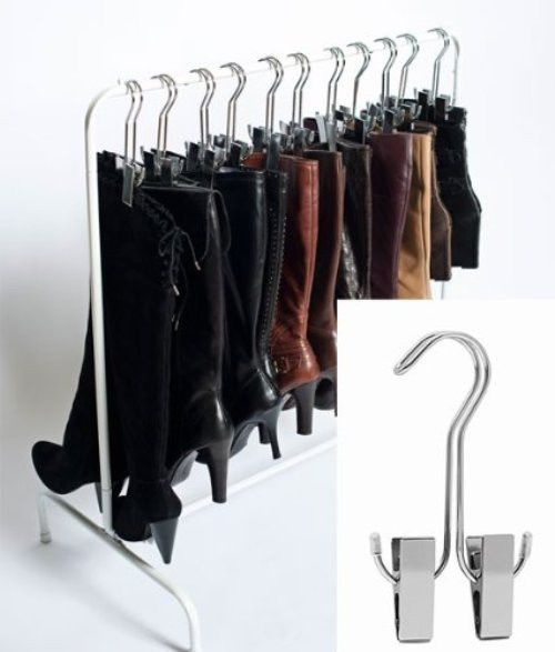 closet rack shoe storage organizer boot boots pair shelf