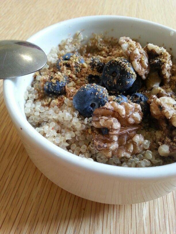 Great quinoa porridge breakfast: Pre soaked quinoa, cooked in almond ...