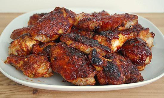 ... Nosh! Chef Jamie's Spicy Ginger & Orange Glazed Chicken Wings