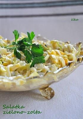 Sałatka zielono-żółta