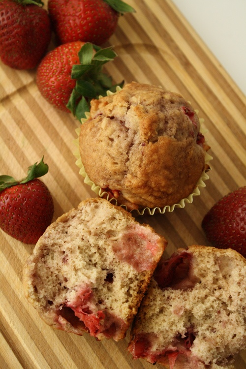 Delicious looking Strawberry Muffins! Mmm!