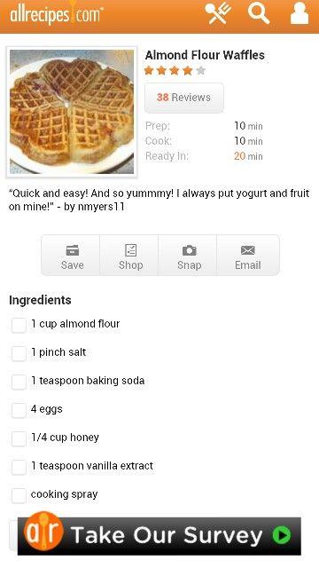 Almond Flour Waffles | yummy vegetarian | Pinterest