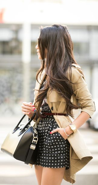 Belted trench.