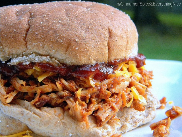 Barbecue Pulled Chicken Sandwiches | Cinnamon Spice & Everything Nice