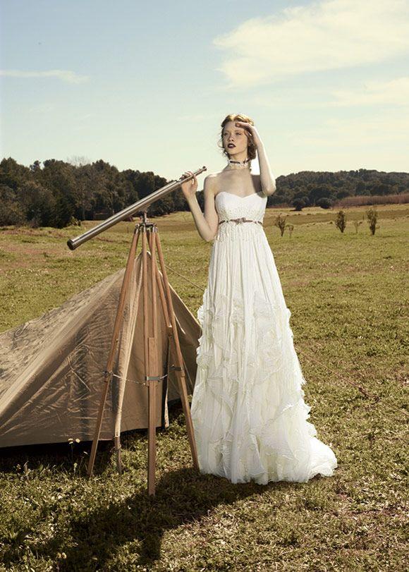 Novias Bohemias. Vestido: Inmaculada Garcia