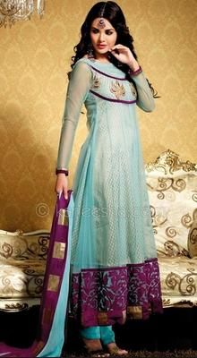 Galerry flared churidar kurta dress