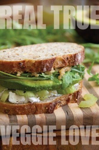 , Celery and Avocado Sandwich with Walnut Butter and Arugula. Walnut ...
