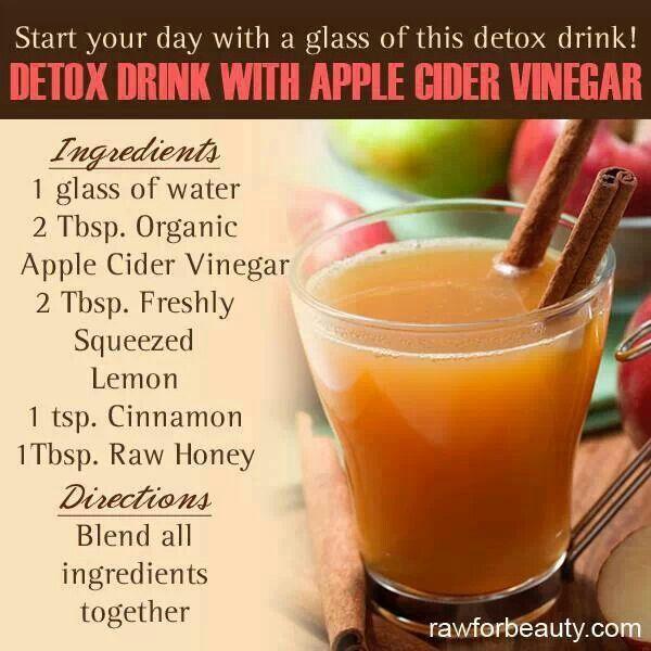 Detox drink with apple cider vinegar medical self help for Cocktail detox
