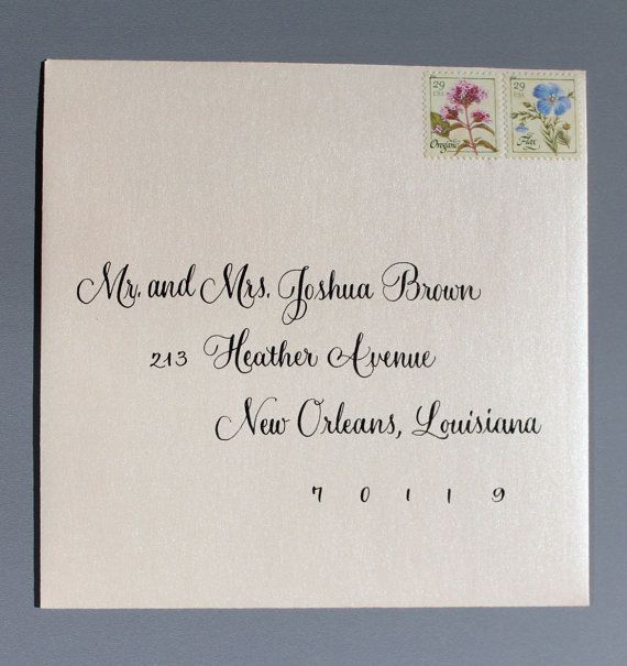 Wedding Invitation Envelope Calligraphy Handwritten