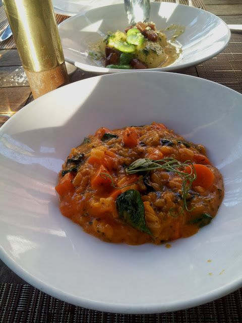 ... Tilth in Seattle - risotto with carrots, white truffle, and Parmesan