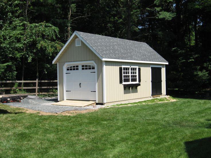 Kloter farms detached shed garage nesting pinterest for Single car detached garage