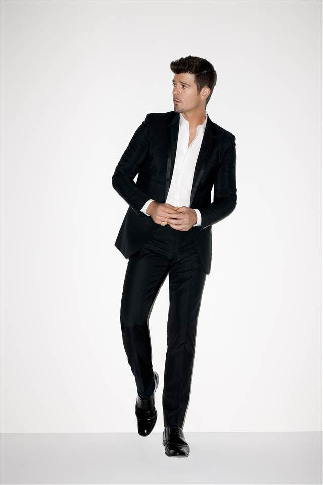 Robin thicke.  Not a huge fan of his music but he is a cutie :)
