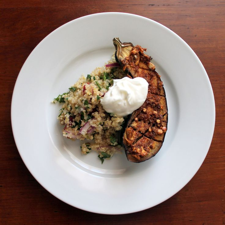 Spiced and Roasted Eggplant with Quinoa Salad