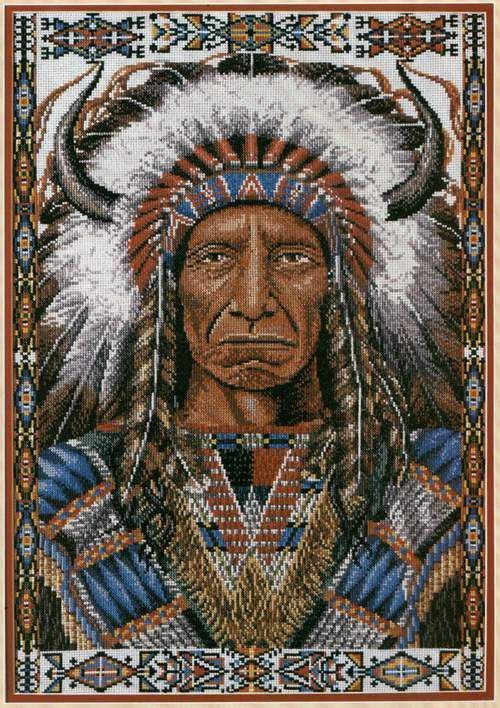 chief cross stitch work