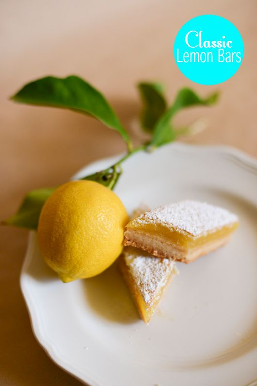 Classic Lemon Bars Recipe | TikkiDo.com | I Bake | Pinterest