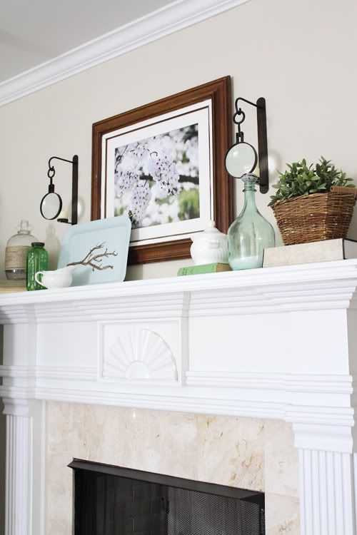 5 spring mantel decorating tips roundup for Mantel decorating tips