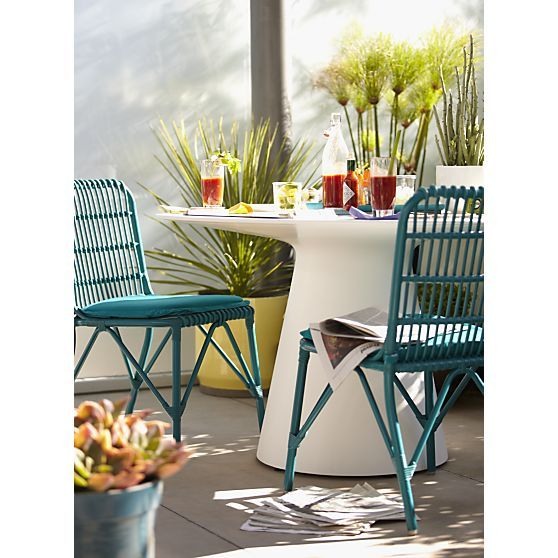 Kruger Harbor Blue Dining Chair With Sunbrella Harbor