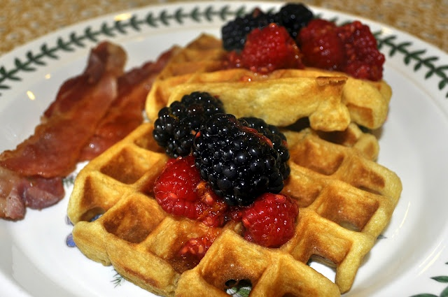 Sour Cream Belgian Waffles | Recipes to try... | Pinterest