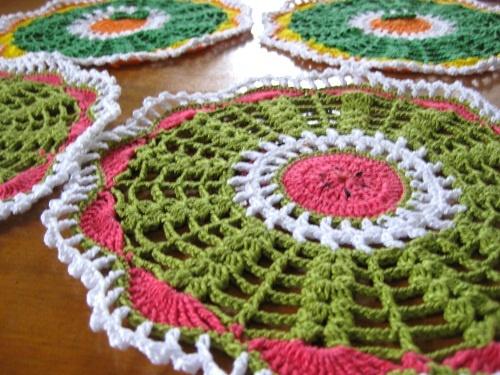 CROCHE: Toalhinha de Croche / Melancia