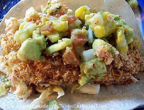 Fish Tacos with Pico De Gallo and Coconut Cole Slaw