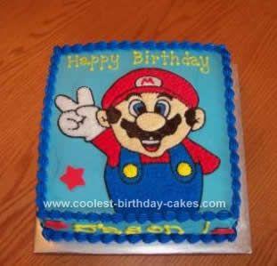 Birthday Cake Design For Big Brother : Homemade Super Mario Brothers Birthday Cake Design: I ...