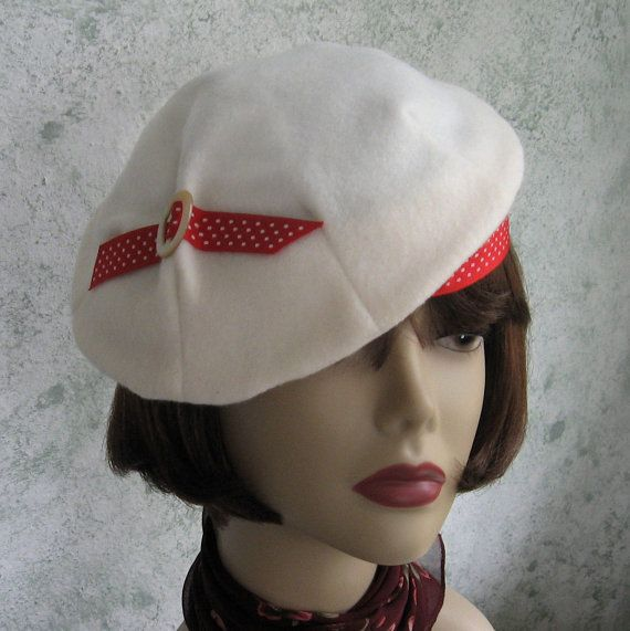 womens 1930s vintage hat pattern pleated beret with accent
