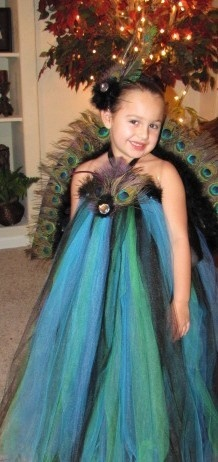 Peacock Tutu Dress Peacock Halloween Costume by AllThingsGrand, $134.99