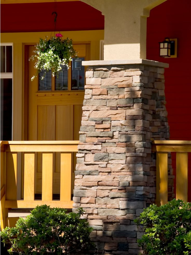 Holly tapered column house in center valley pinterest for Tapered porch columns