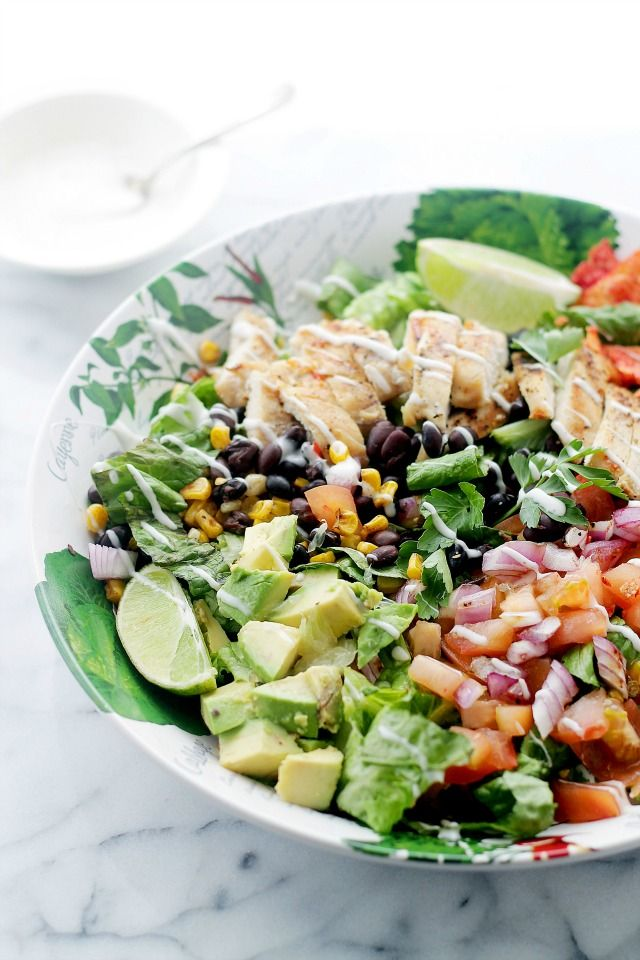 Tex-Mex Margarita Chicken Salad | www.diethood.com | #recipe #chicken #salad
