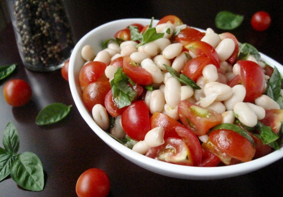 Tomato, Basil, and White-Bean Salad | Salads, Soups, and Sides | Pint ...