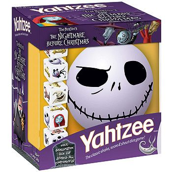 Nightmare Before Christmas Yahtzee | Nightmare Before Christmas | Pin ...