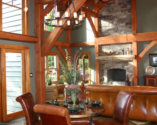 Timber Frame Great Room Decorating Pinterest
