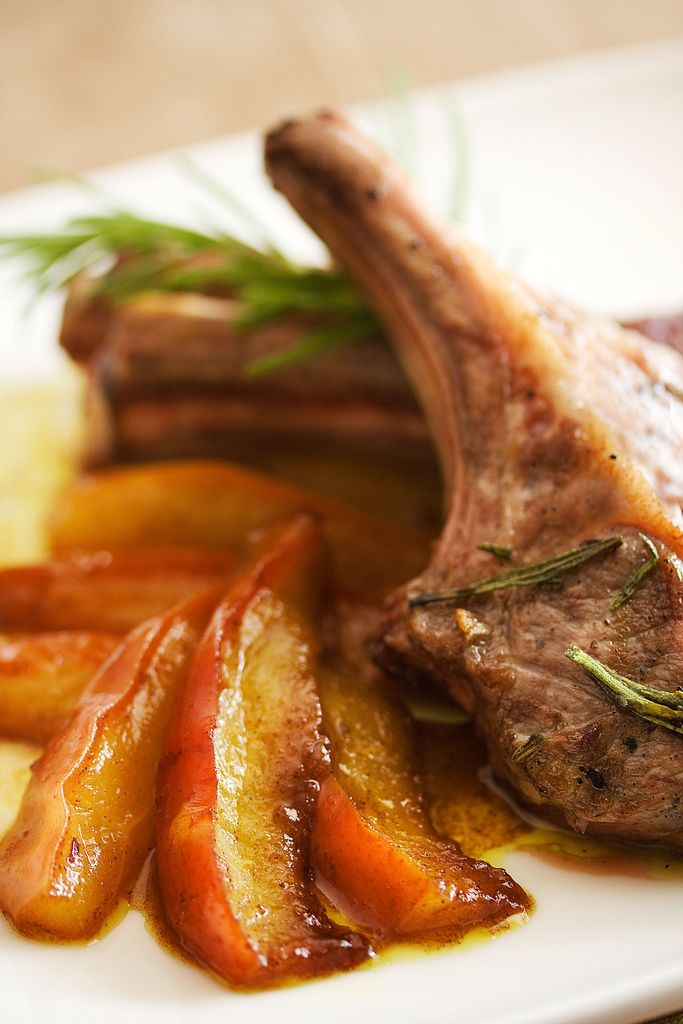 lamb chops with curried pears http://steamykitchen.com/1519-lamb-chops ...