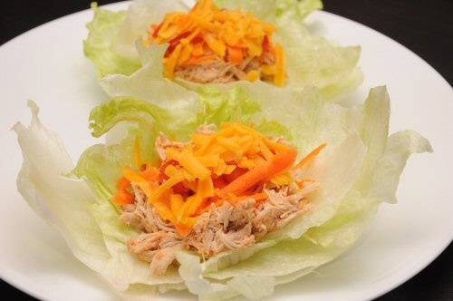Slow Cooker Spicy Parmesan Chicken Lettuce Cups Recipe