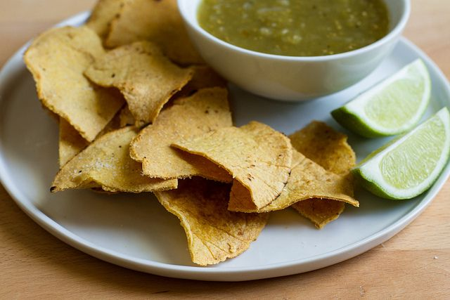 Homemade Corn Tortillas/Homemade Corn Tortilla Chips
