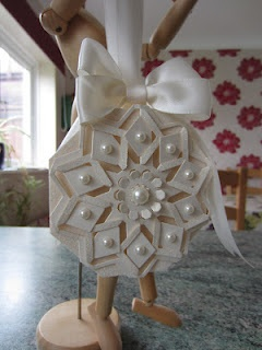 WOW Christmas Ornament - backed on Spellbinders Octagon Nestability