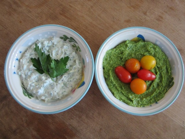 Spinach Artichoke Hummus | Running away with the dish and spoon ...