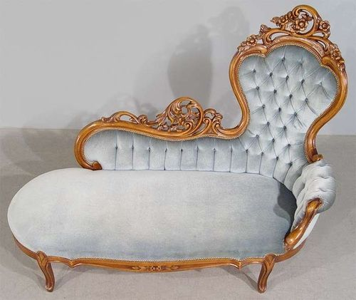Antique victorian chaise lounge victorian 19th c for Antique chaise lounge sofa