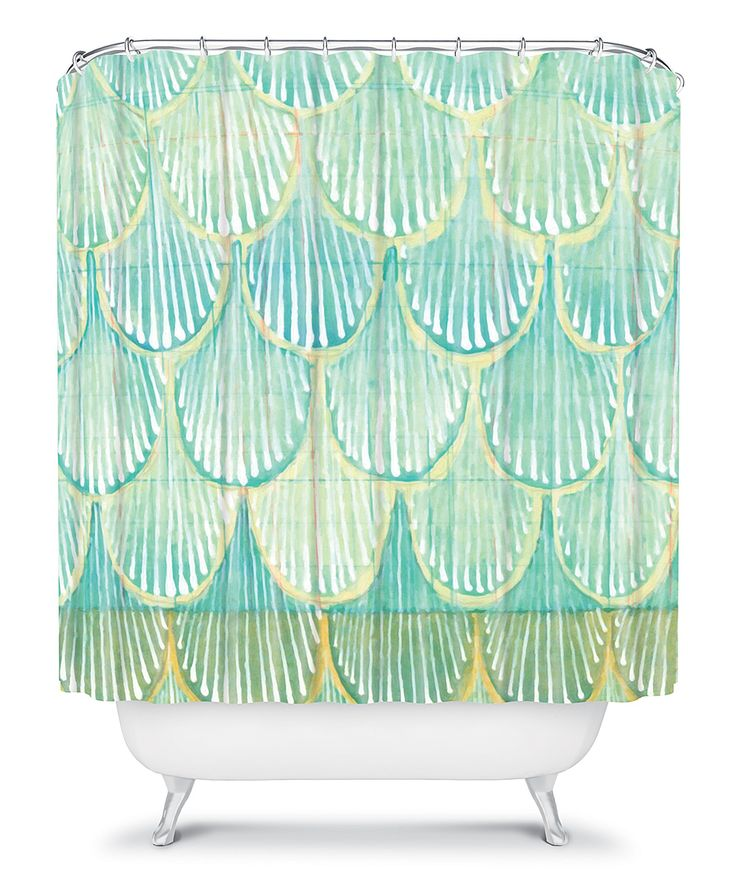 Turquoise Scallop Shower Curtain | Daily deals for moms, babies and ...
