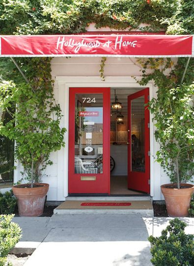 Hollywood at Home, red awning,  Awning on storefront