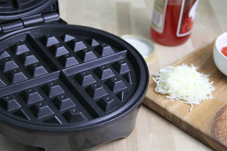 Mozzarella Stick Waffles with Pepper Jelly