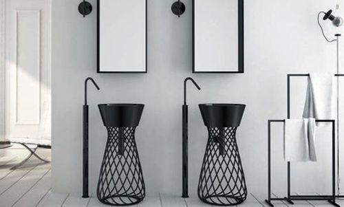 Modern pedestal sink project 1441 pinterest