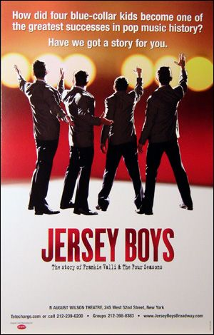 Buy the Jersey Boys the Musical Broadway Window Card Poster at PlaybillStore.com