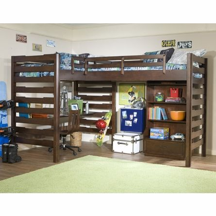 studio dual corner loft bed kid stuff pinterest