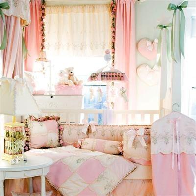 Victorian shabby chic baby girl s room