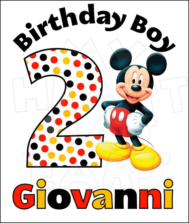 Pin by Angela Nelson on Disney Birthdays Digital clip art for Iron on ...
