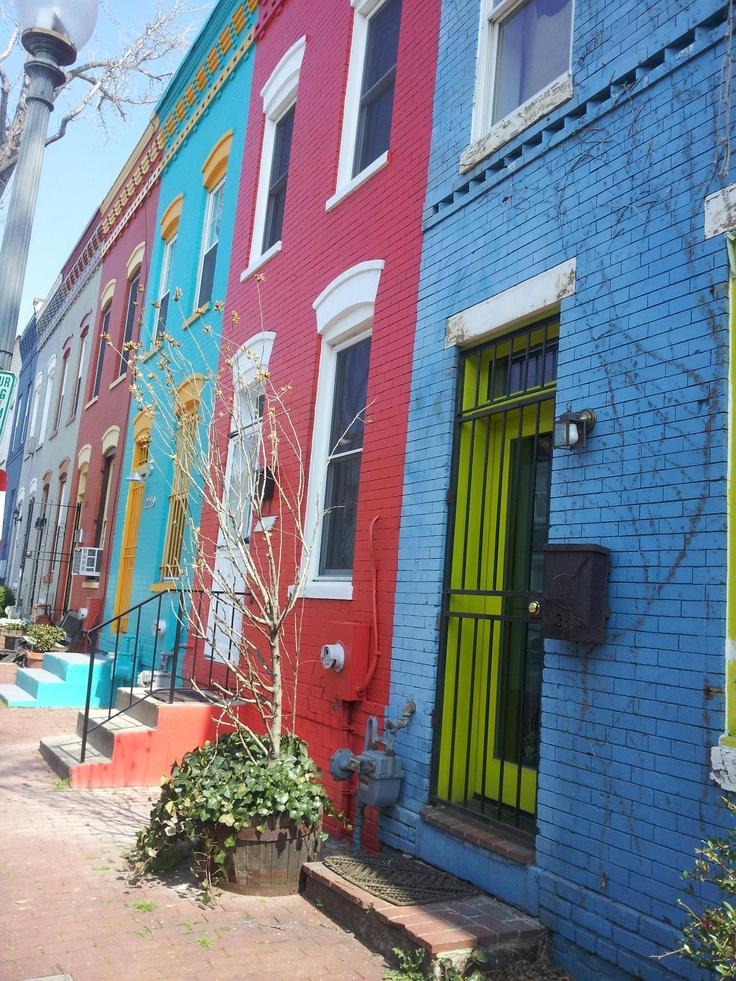 Rainbow row houses for Charleston row houses
